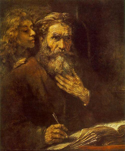 L'Ange et Matthieu représentés par Rembrandt