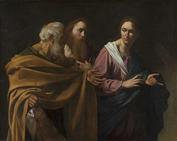 L'appel de Saint-Pierre et Saint-André par Caravage