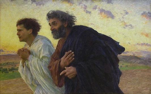 Les Apôtres Pierre et Jean courant au tombeau